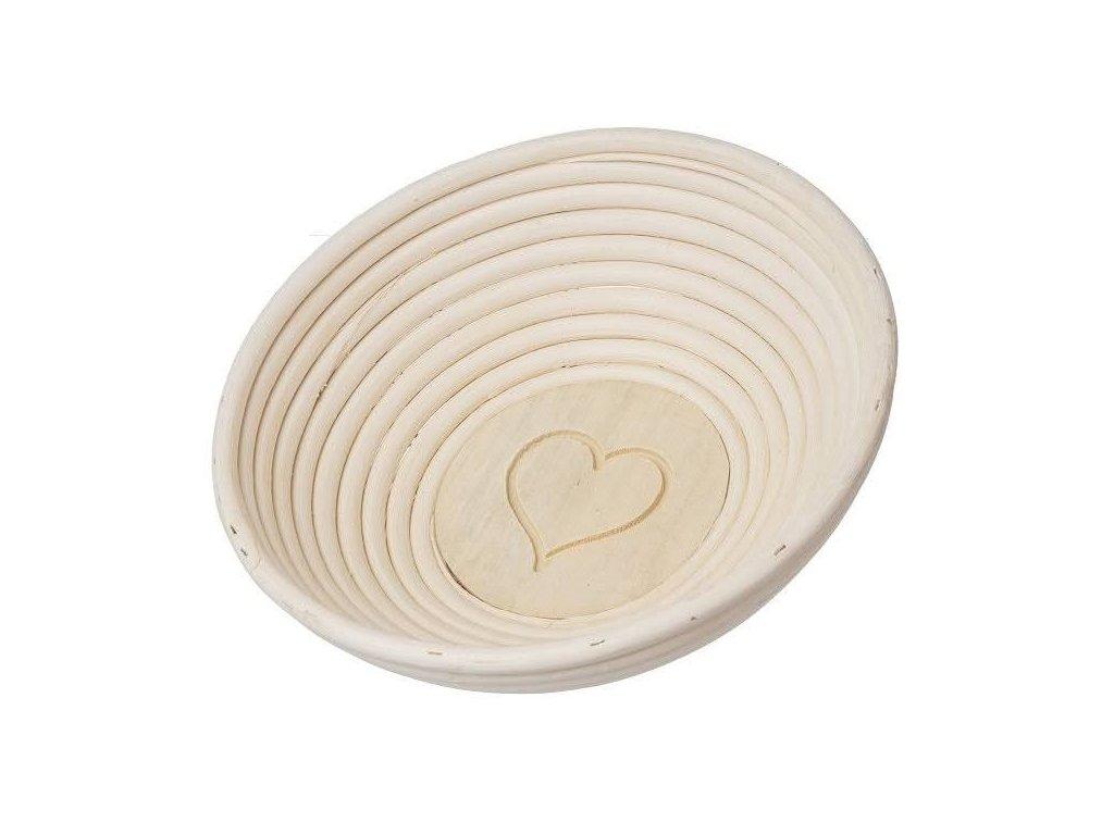Ošítka ratan okrúhla pr. 21 cm - srdce