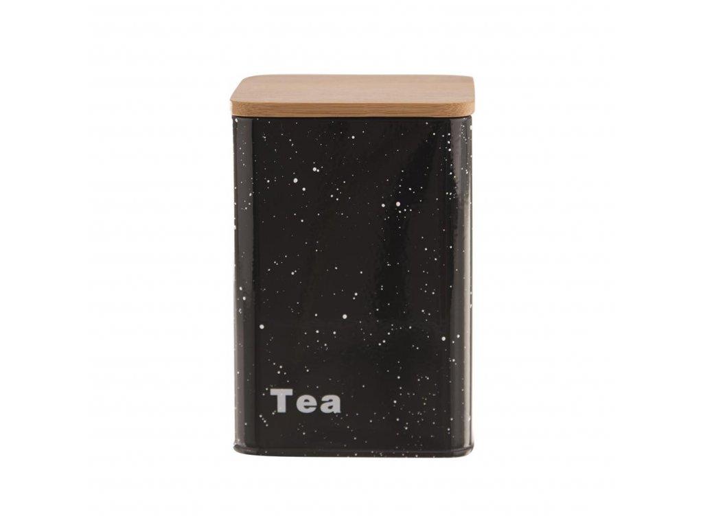 Plechová dóza s viečkom tmavá - tea