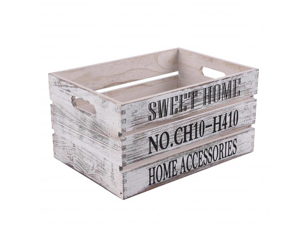 Drevená debnička sweet home 40x30x22 cm