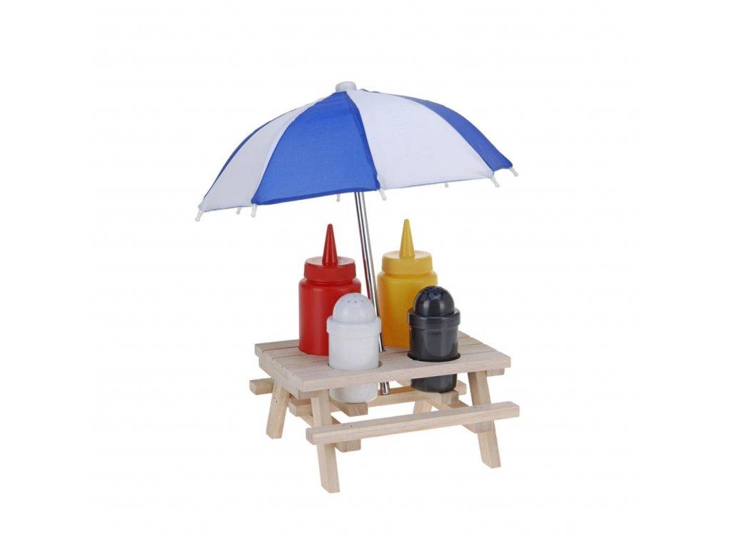 Súprava na dochucovanie s dáždnikom