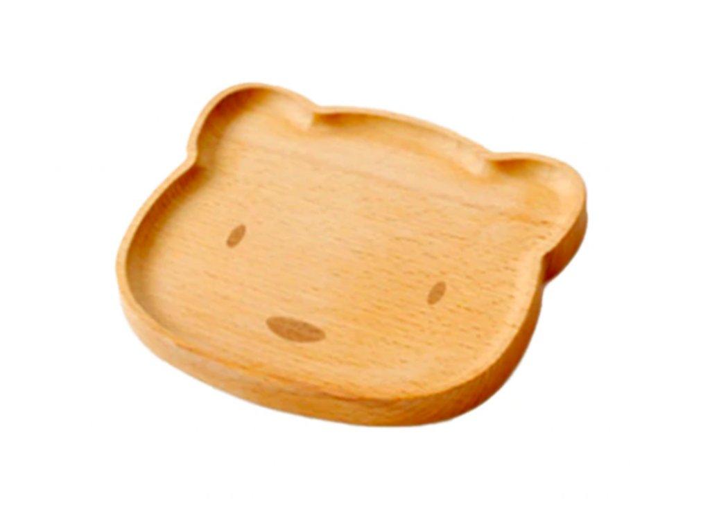 Drevený tanierik - medvedík