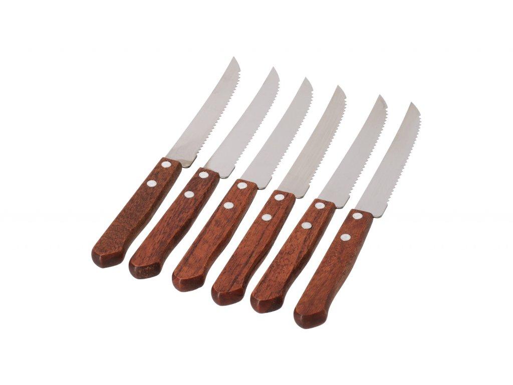 Nerezové nože na steak - 6 ks