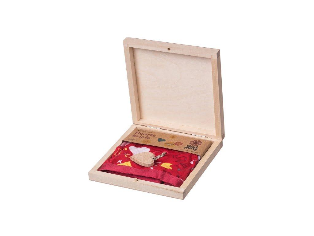 Darčeková drevená krabička III