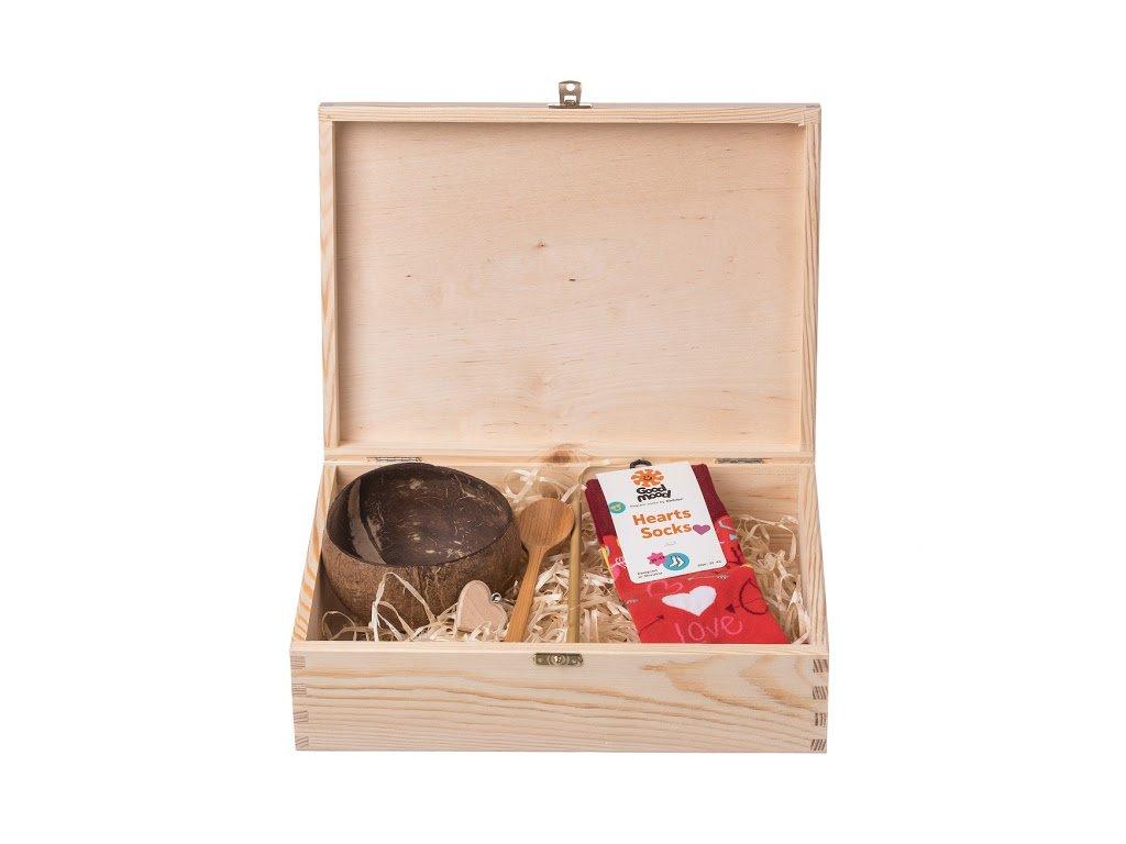 Dárková dřevěná krabička VI