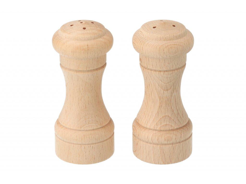 Drevená soľnička a korenička - 10 cm