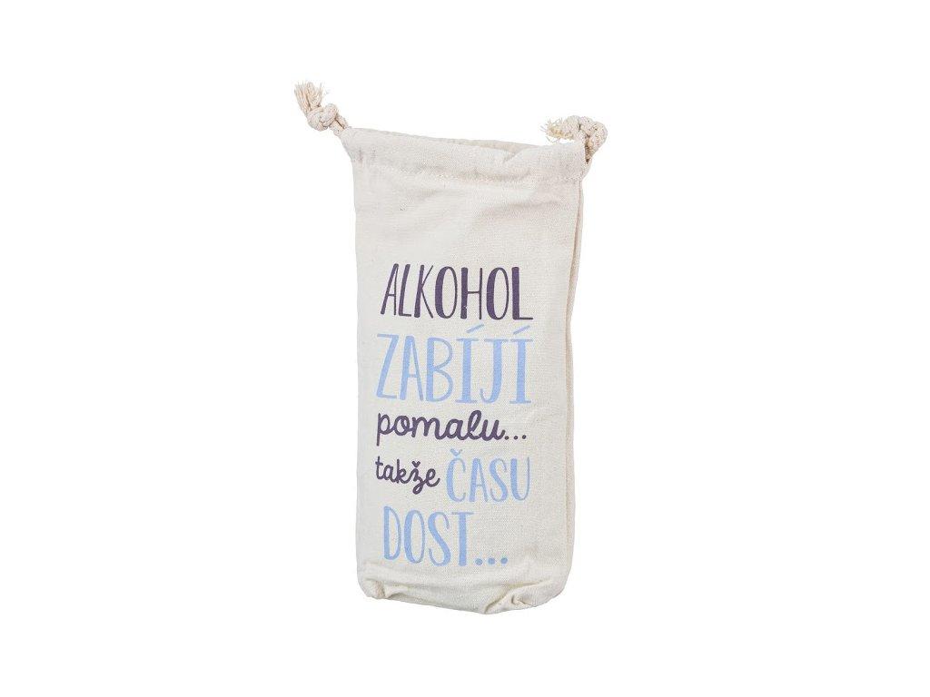 Bavlnená taštička na fľašu času dosť