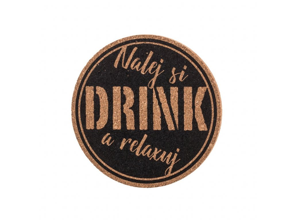 Korková podložka pod hrnček - nalej si drink a relaxuj