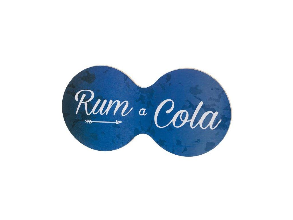 Korková podložka pod hrnček - rum a cola