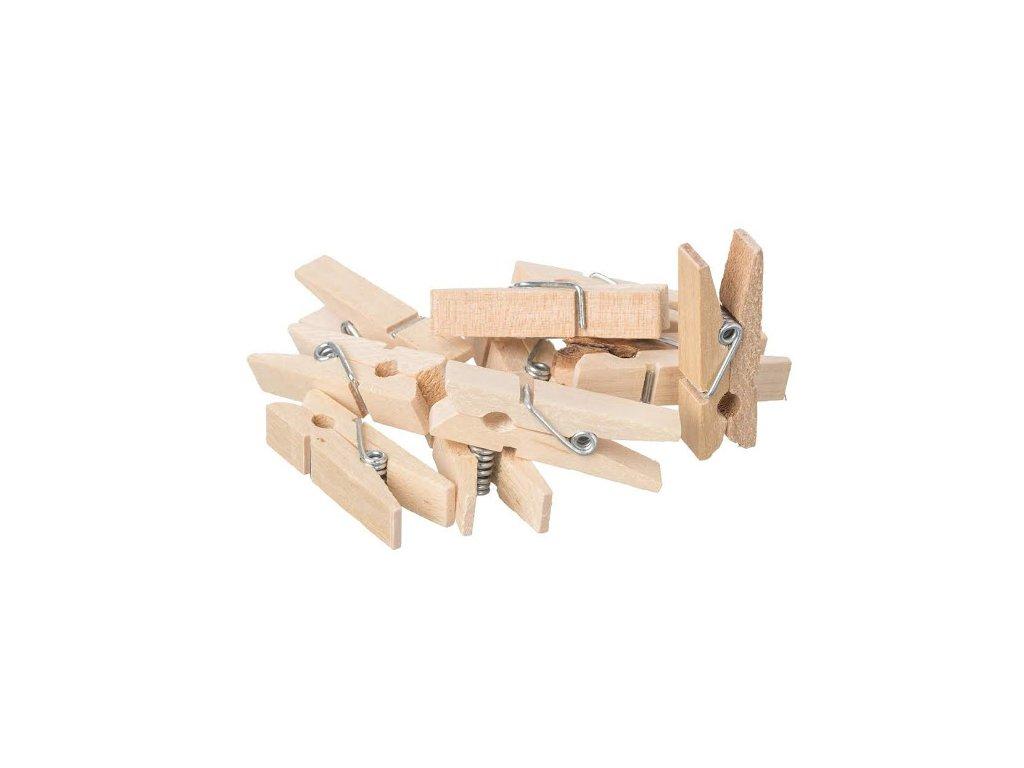 Drevené mini štipce - 10 ks