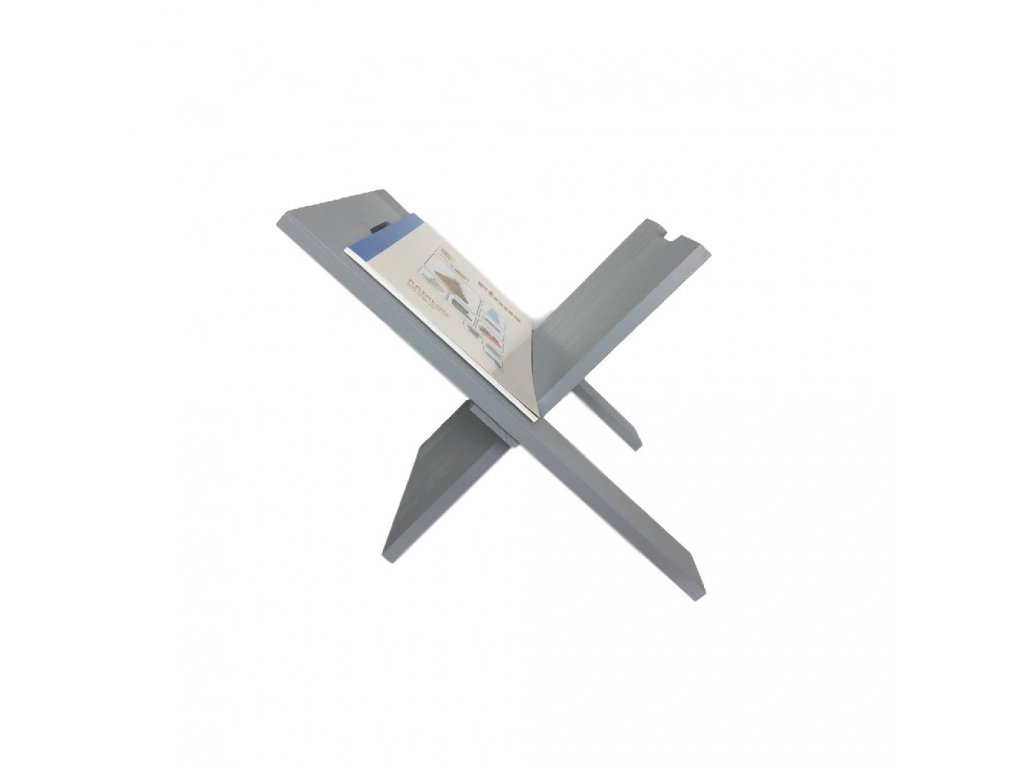 Drevený stojan na noviny - šedý