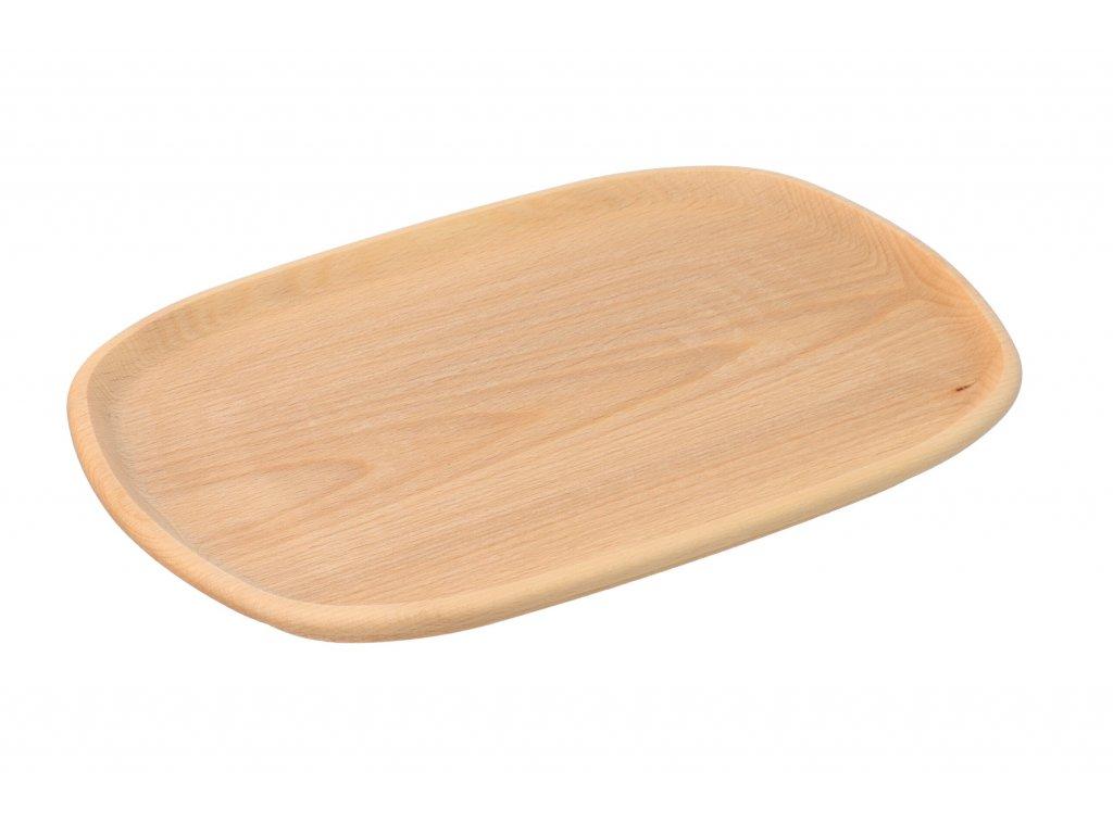 Štýlový drevený podnos malý