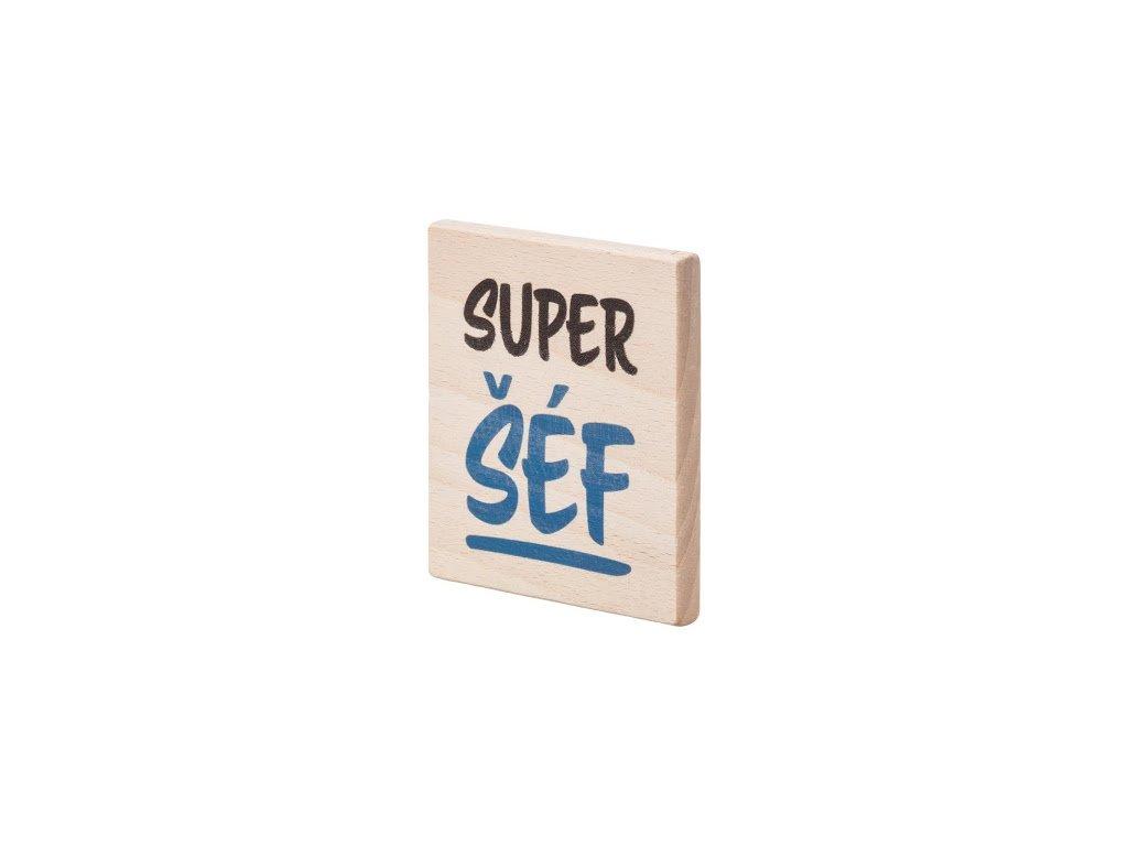 """Drevený podtácok """"Super šéf"""""""