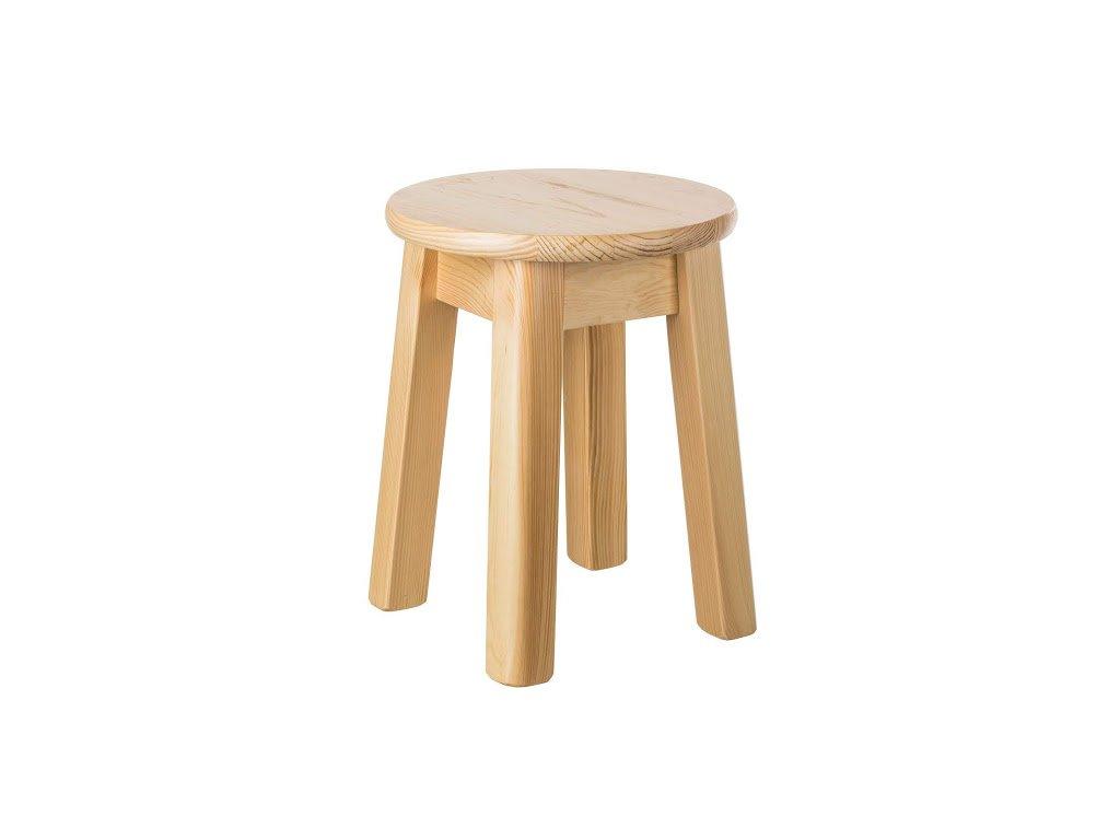 Guľatá stolička z borovicového masívu