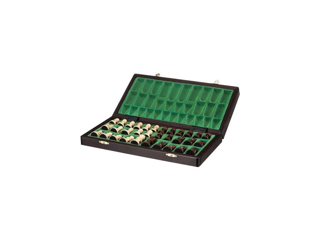 Velké magnetické dřevěné šachy