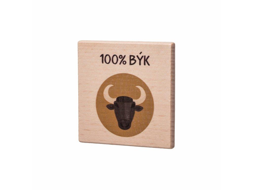 Drevený podtácok - 100% Býk