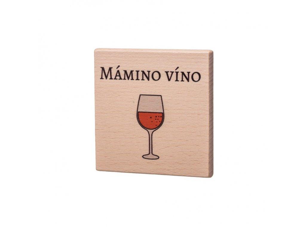 Drevený podtácok - Mámino víno