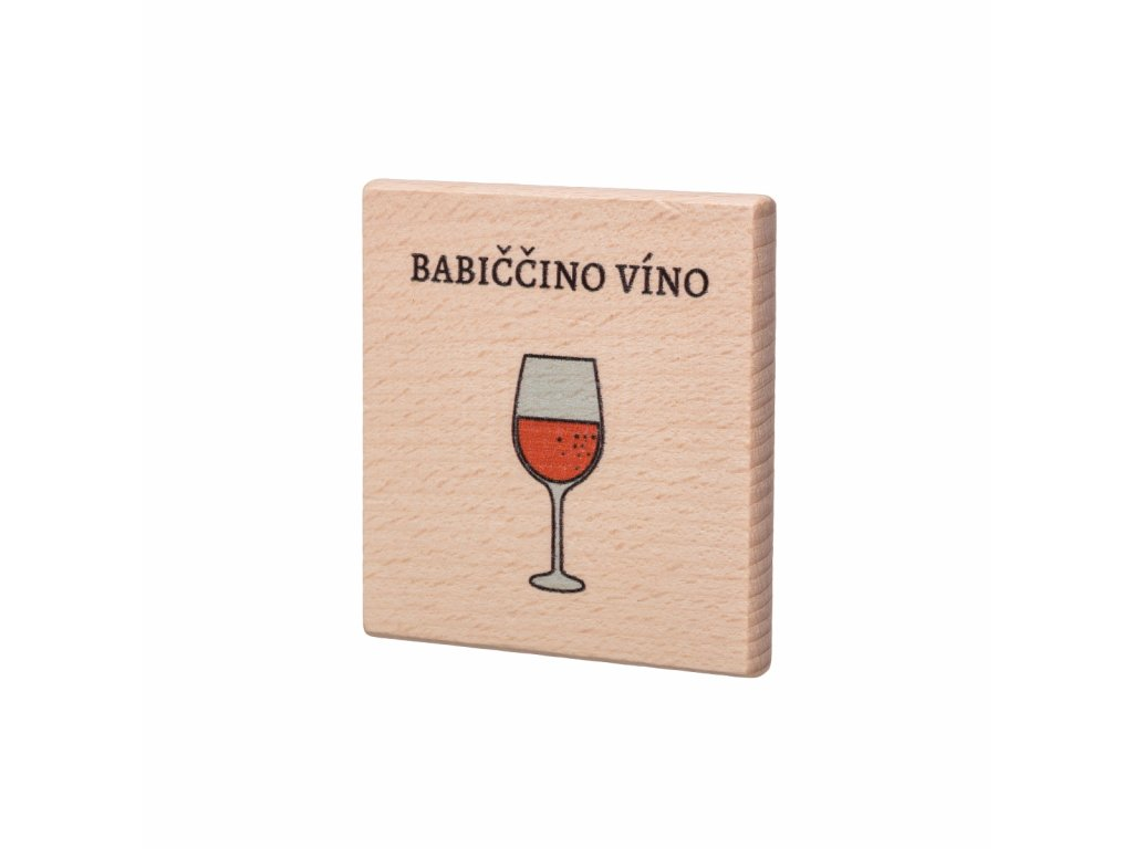 Drevený podtácok - Babiččino víno