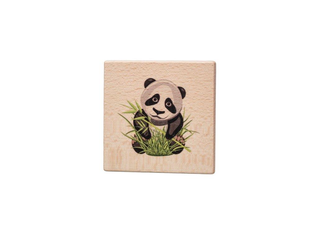 Drevený podtácok - Panda