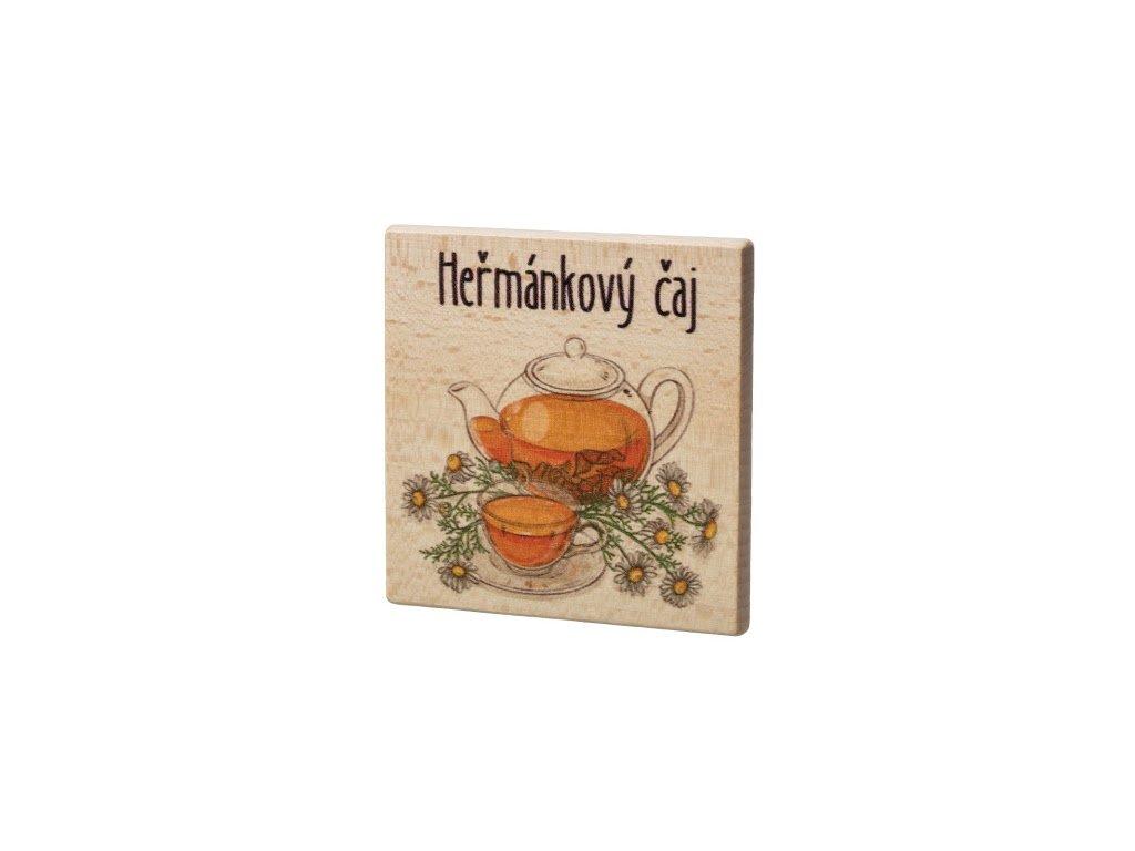 Drevený podtácok - Harmančekový čaj