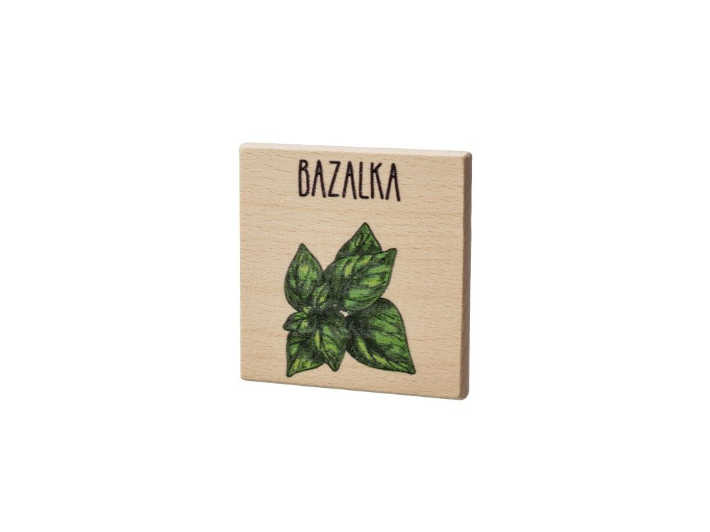 Drevený podtácok - Bazalka