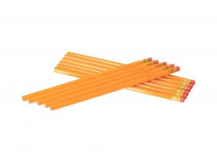 Sada grafitových ceruziek s gumou - 10 ks