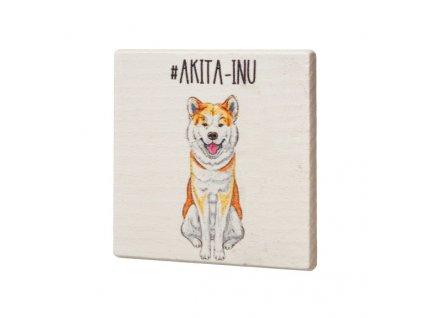 Drevený podtácok - Akita-Inu
