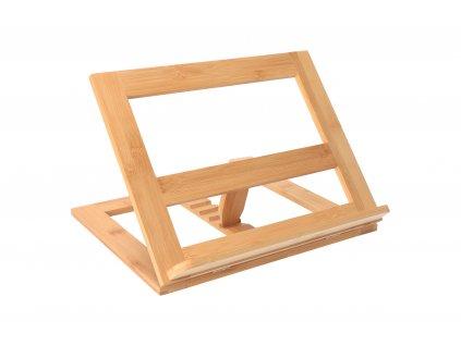 Bambusový stojan na tablet/knihu