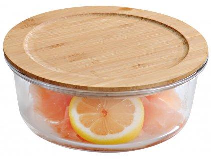 Bambusová krabička na potraviny - okrúhľá