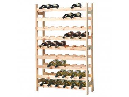 Borovicový regál na víno 54 láhví - 63 x 27 cm
