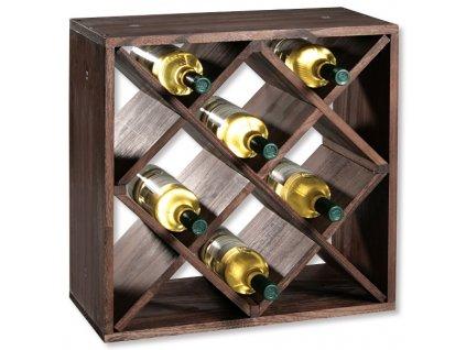 Borovicový stojan na víno II - 50 x 50 x 25 cm