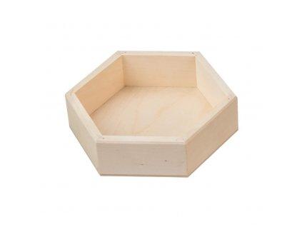 Dřevěná krabička šestihranná