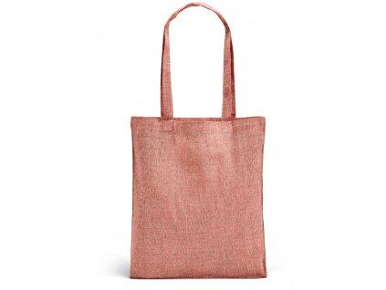 Nákupná EKO taška z recyklovanej bavlny - červená