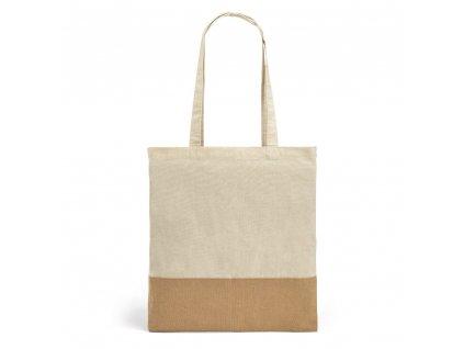 Bavlnená nákupná EKO taška z imitácie juty