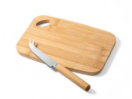 Bambusová krájacia doska na syr s nožom