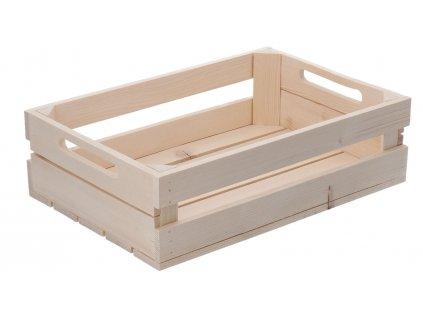 Dřevěná bedýnka 40 x 27,5 x 11,5 cm