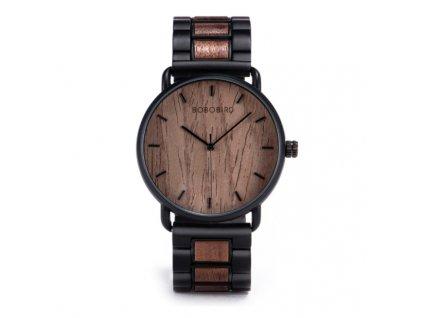 Dřevěné hodinky Bobo Bird - tmavé