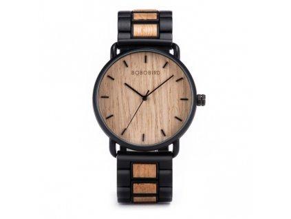 Dřevěné hodinky Bobo Bird - světlé