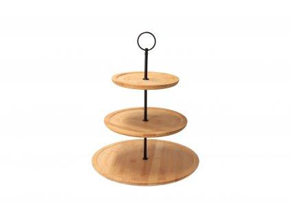 Bambusový stojan na sladké - 3 poschodia