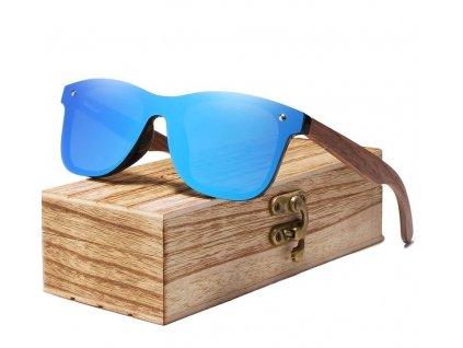 Drevené slnečné okuliare Kingseven - modré