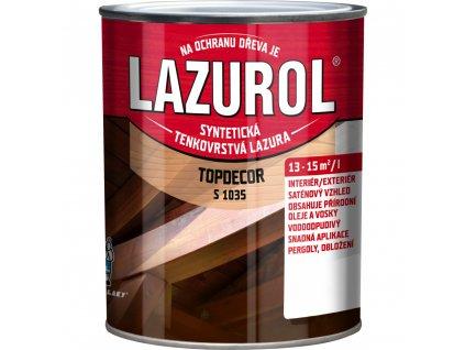 Lazurol Topdecor S1035 lazúra na drevo 0,75 L - viac farieb