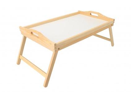 Agátový servírovací stolík do postele