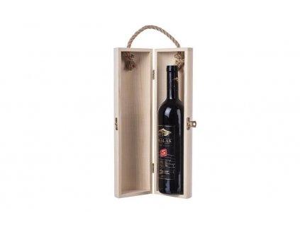 Dřevěná truhla na víno válec