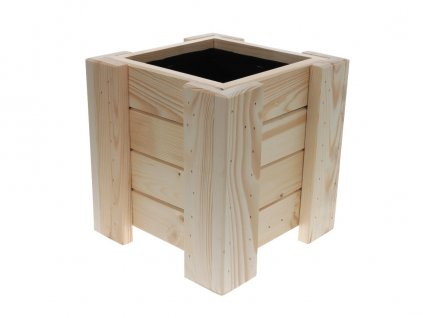 Dřevěný květináč - čtverec 26 cm
