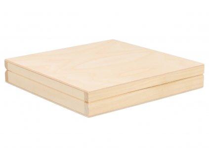 Drevená krabička 20 x 20 x 3,5 cm