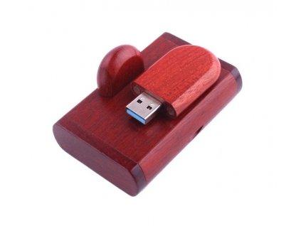 Drevený USB disk 32GB - tmavý