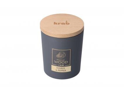 Vonná sviečka Magic Wood - jantár a korenie