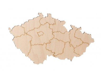 Drevená mapa Českej republiky