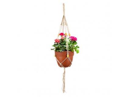 Bavlněný závěs na květináč