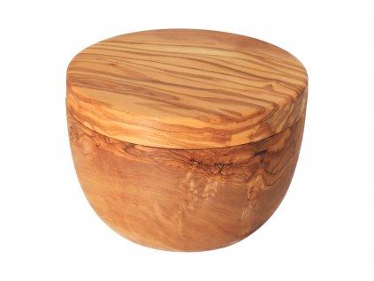 Cukřenka s magnetickým víkem z olivového dřeva