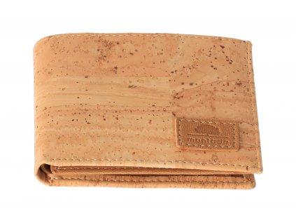 Pánská korková peněženka s imitaci kůže